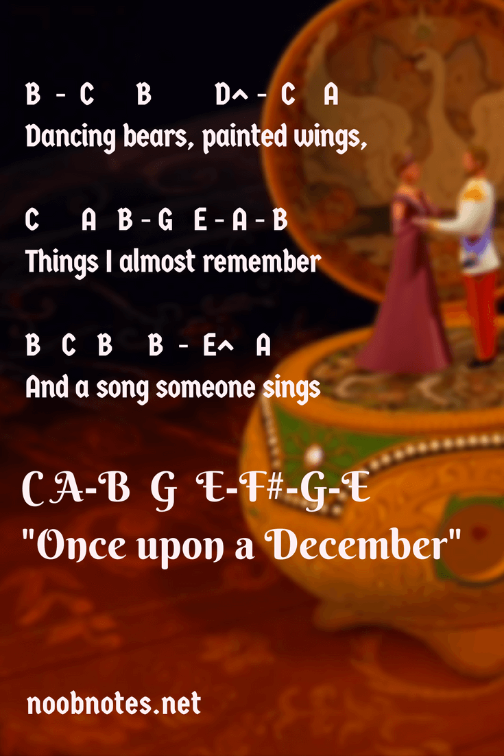 Once upon a December – Anastasia / Deana Carter letter notes
