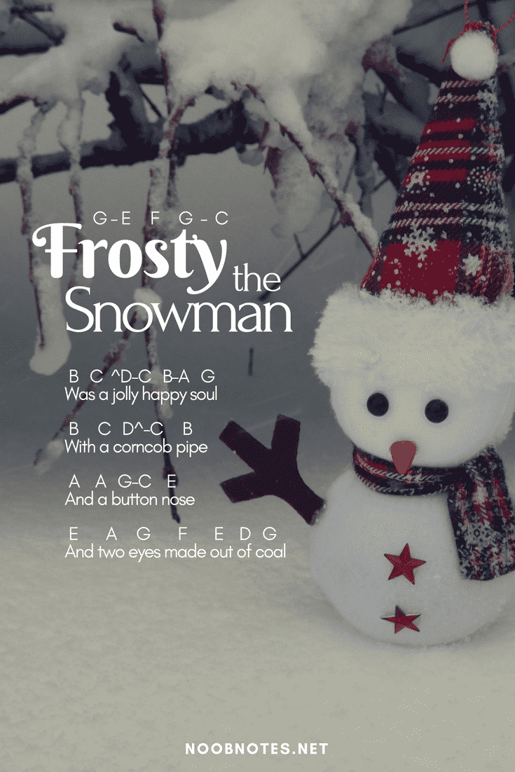 Frosty The Snowman Traditional Letter Notes For Beginners Music