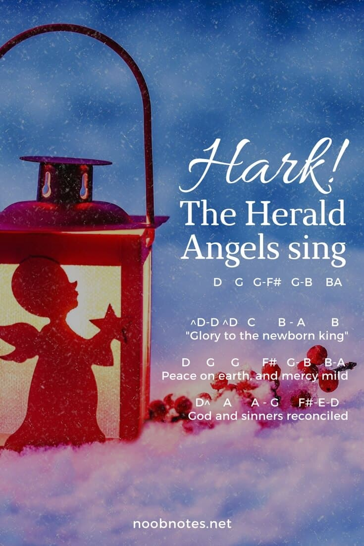 Hark The Herald Angels Sing Traditional Letter Notes For