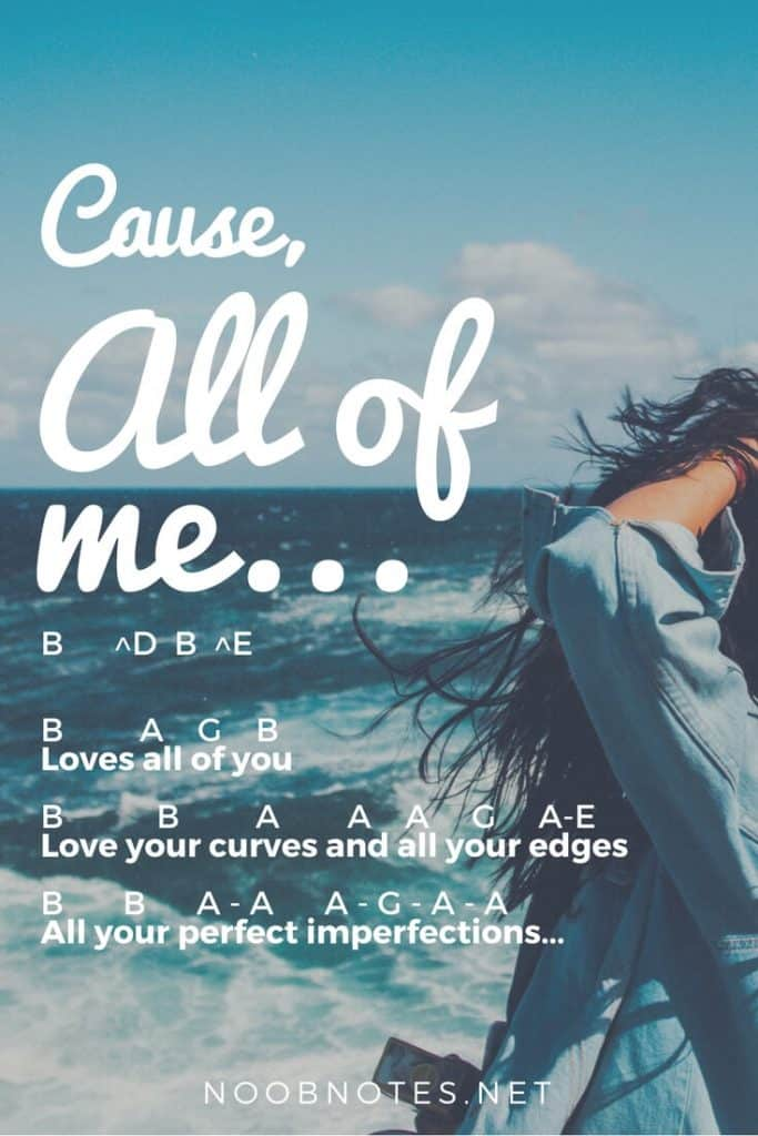 All Of Me John Legend Letter Notes For Beginners Music Notes For Newbies