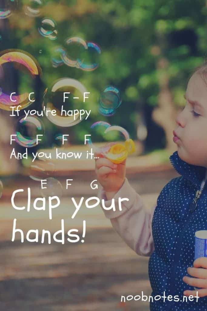 If You're Happy and You Know It – Traditional letter notes