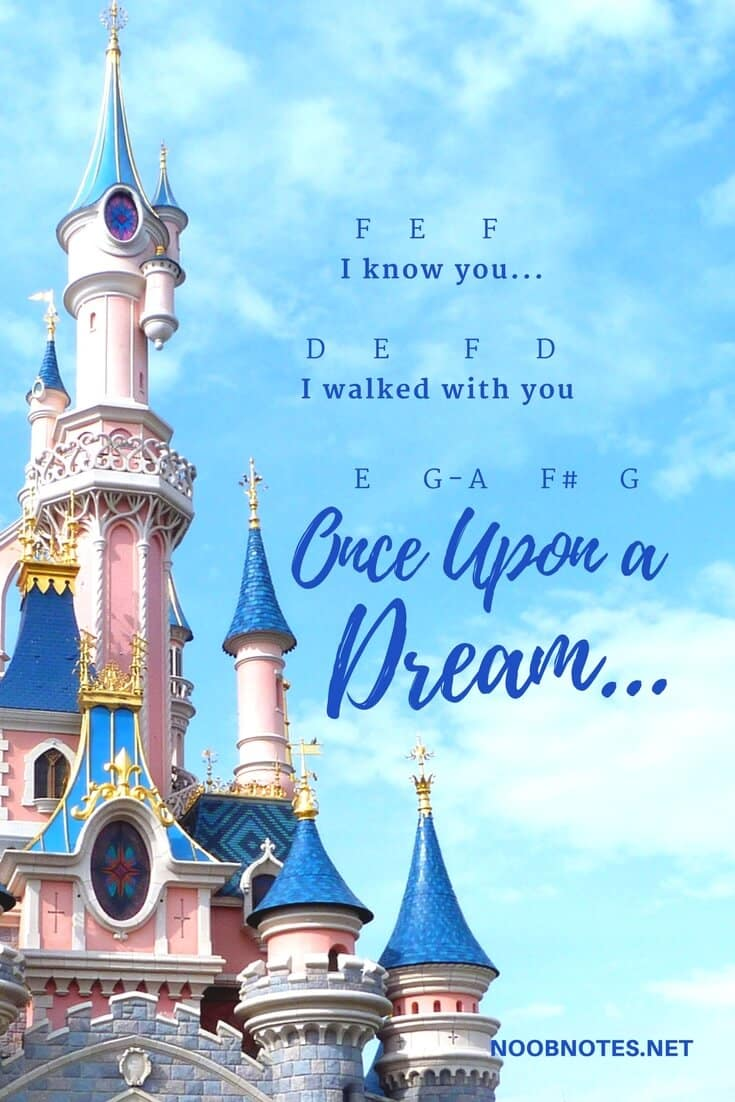 Once Upon a Dream – Sleeping Beauty (Disney) letter notes