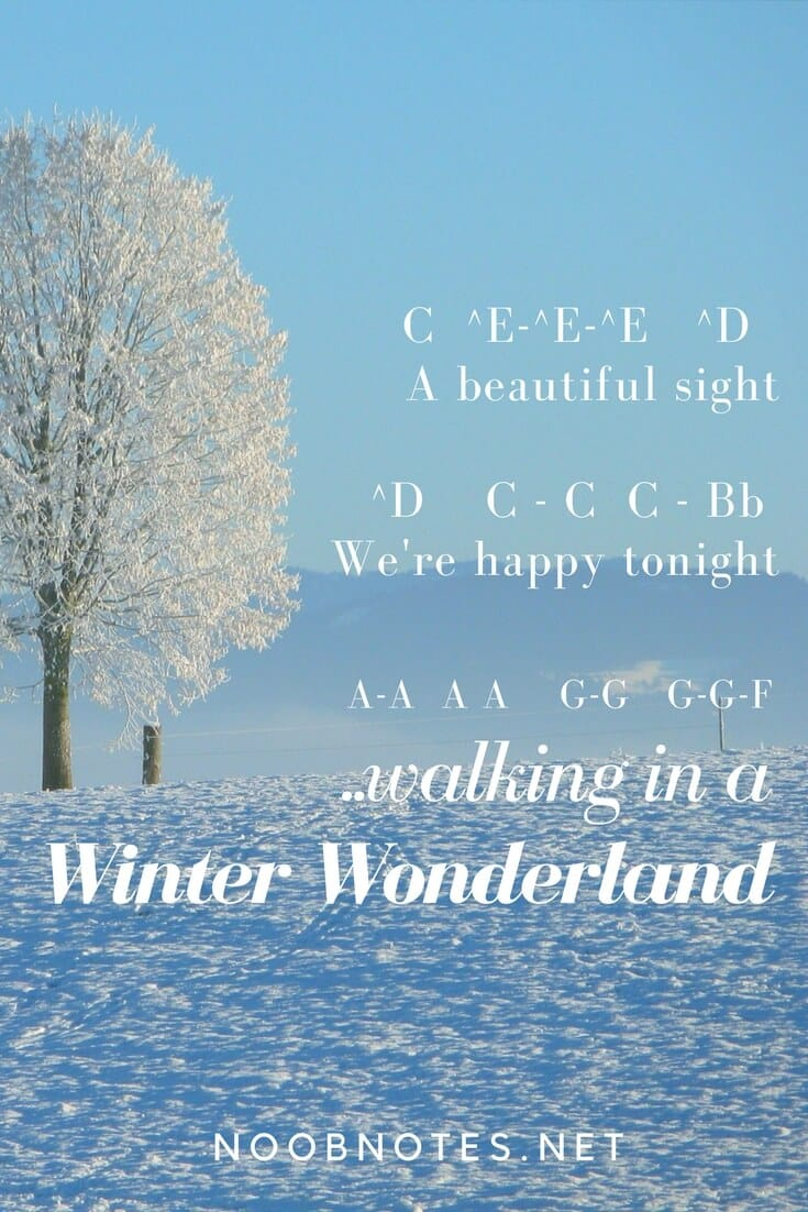 Winter Wonderland Traditional Letter Notes For Beginners Music