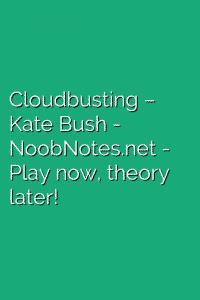 Cloudbusting – Kate Bush