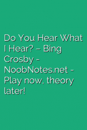 Do You Hear What I Hear? – Bing Crosby