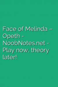 Face of Melinda – Opeth