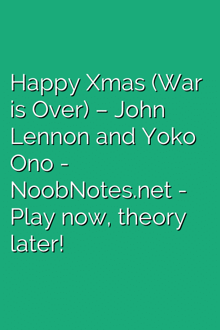 Happy Xmas (War is Over) – John Lennon / Yoko Ono letter notes for ...