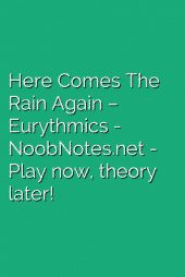 Here Comes The Rain Again – Eurythmics