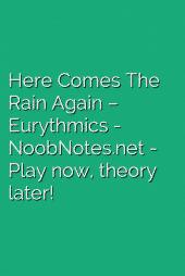 Here Comes The Rain Again – Eurythmics