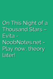 On This Night of a Thousand Stars – Evita