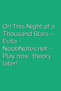 On This Night of a Thousand Stars – Evita
