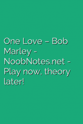 One Love – Bob Marley