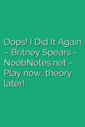Oops! I Did It Again – Britney Spears