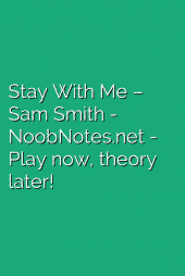 Stay With Me – Sam Smith