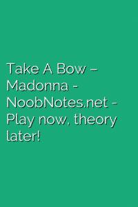 Take A Bow – Madonna