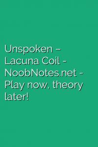 Unspoken – Lacuna Coil