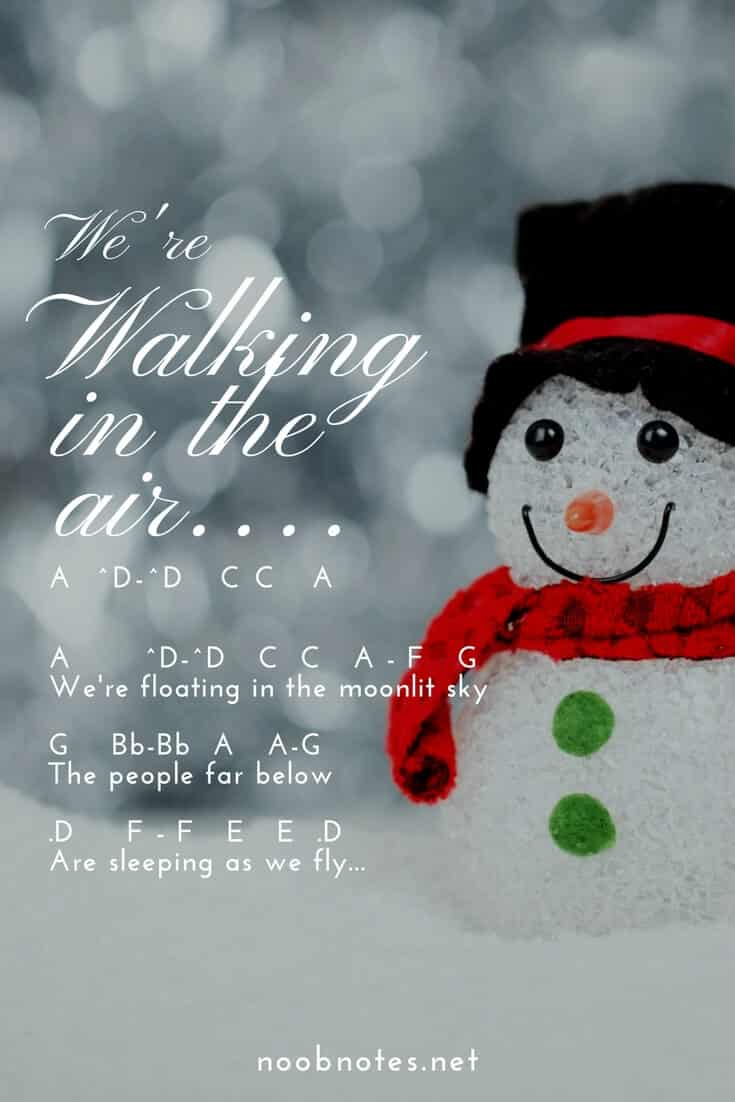 Walking in the Air – The Snowman letter notes for beginners