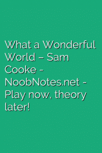 What a Wonderful World – Sam Cooke