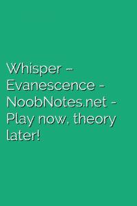 Whisper – Evanescence