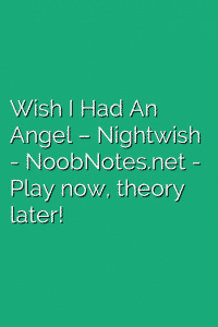 Wish I Had An Angel – Nightwish