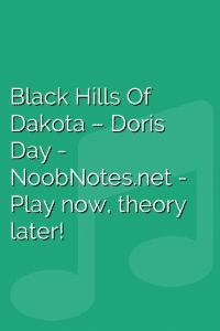 Black Hills Of Dakota – Doris Day