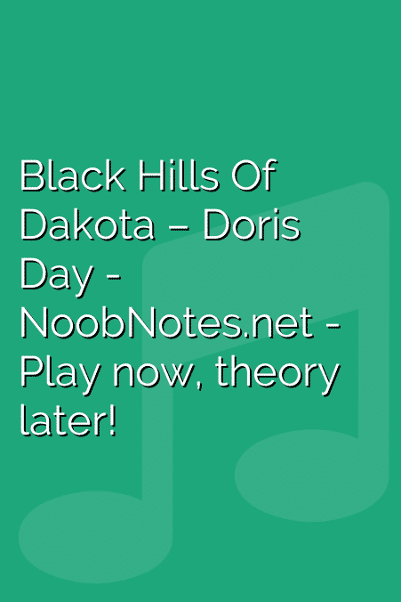 Black Hills Of Dakota – Doris Day