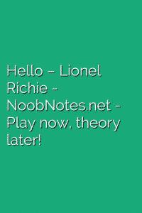 Hello – Lionel Richie