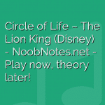 Circle of Life – The Lion King (Disney)