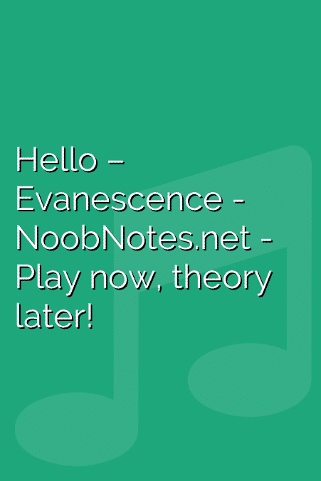 Hello – Evanescence