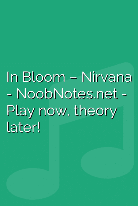 In Bloom – Nirvana
