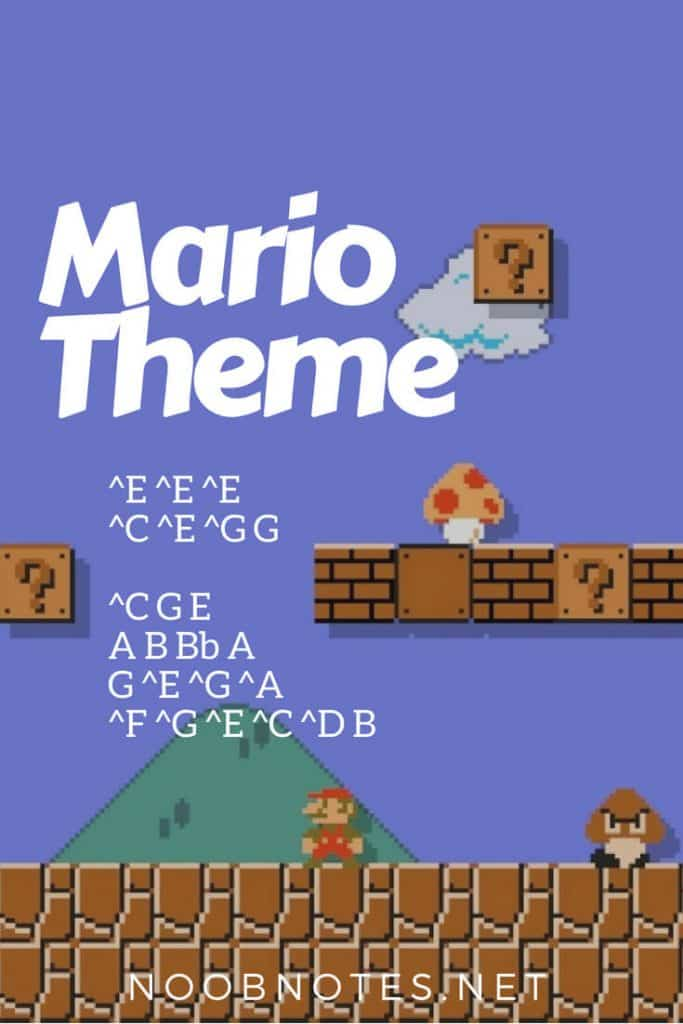 Super Mario Bros  Theme – Nintendo letter notes for beginners