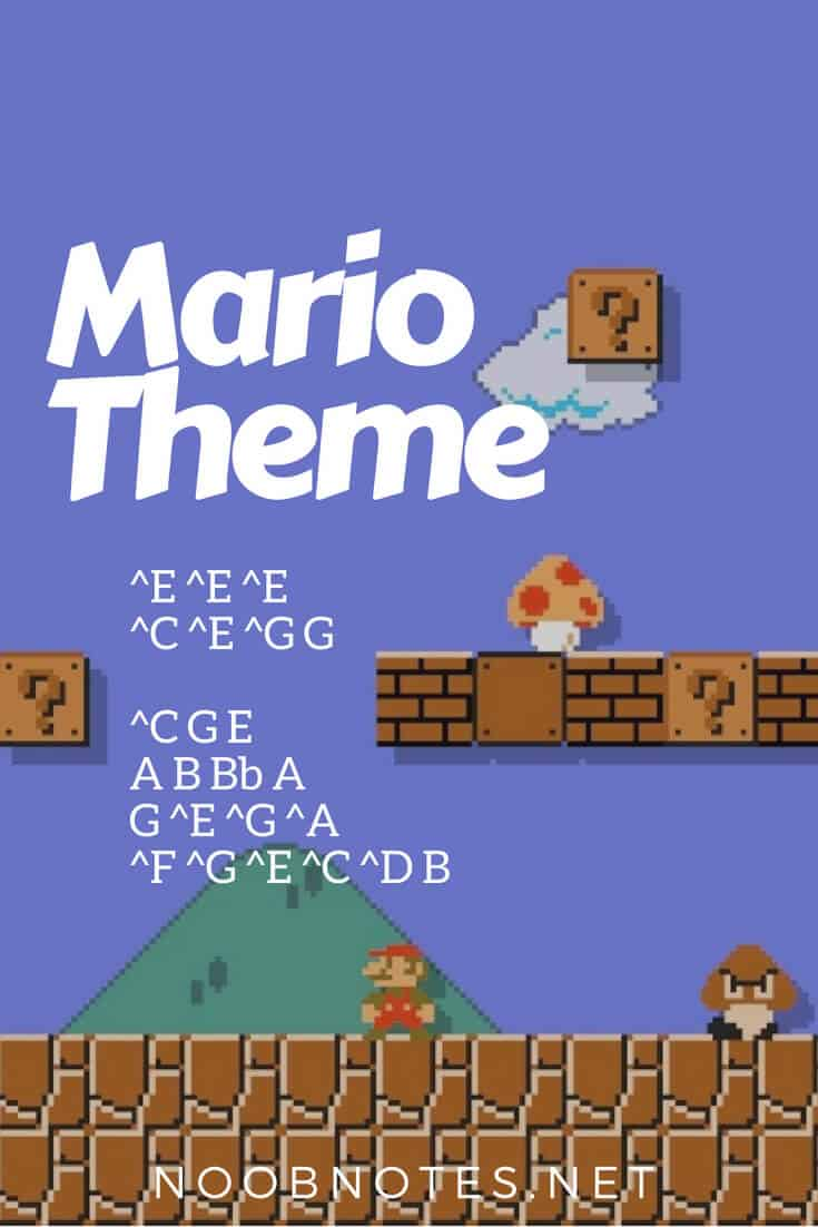 Super Mario Bros Theme Nintendo Letter Notes For Beginners