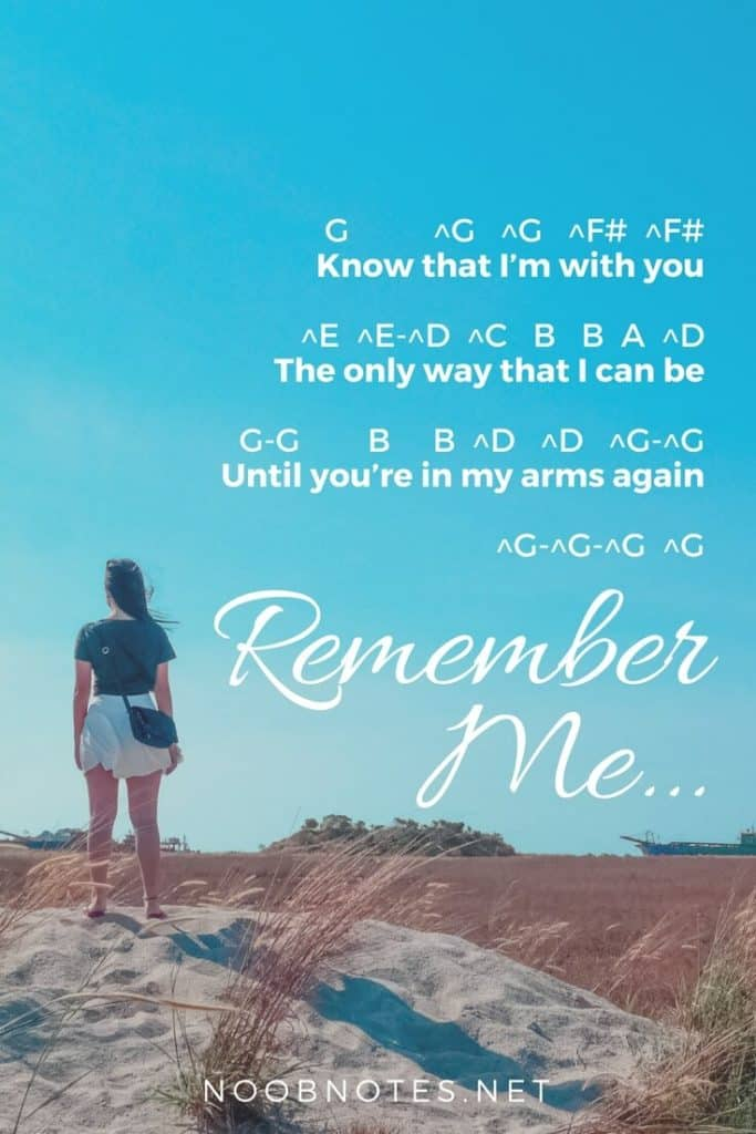Remember Me – Coco (Disney) letter notes for beginners