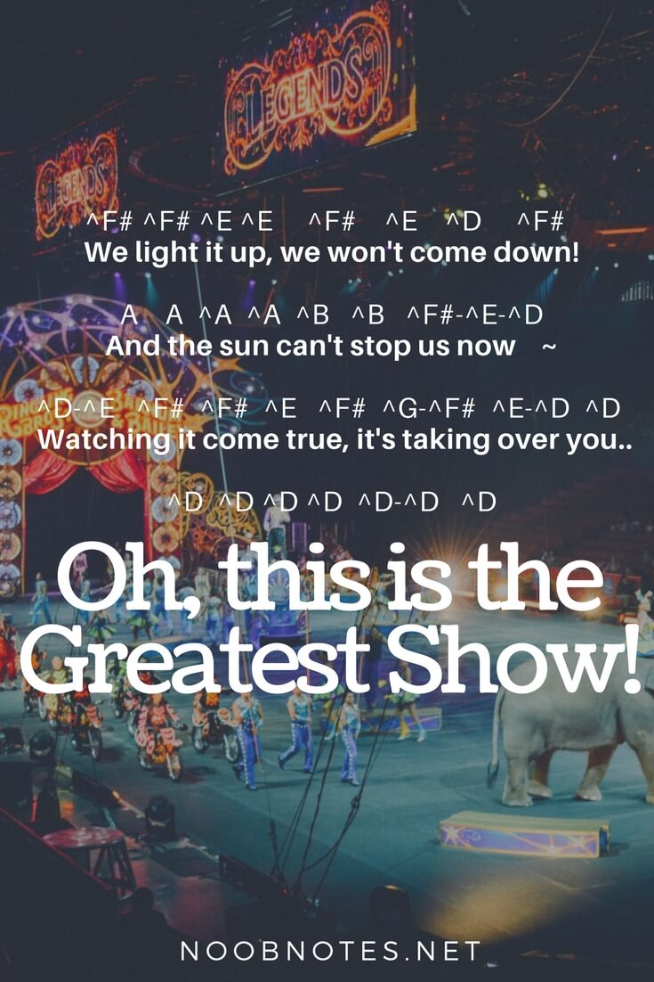 The Greatest Show The Greatest Showman Letter Notes For Beginners