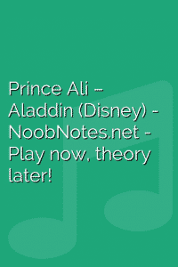 Prince Ali – Aladdin (Disney)