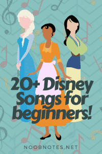 Disney Music Notes Collection from NoobNotes.net - Play now, theory later!