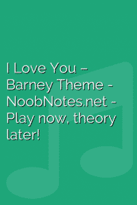 I Love You – Barney Theme