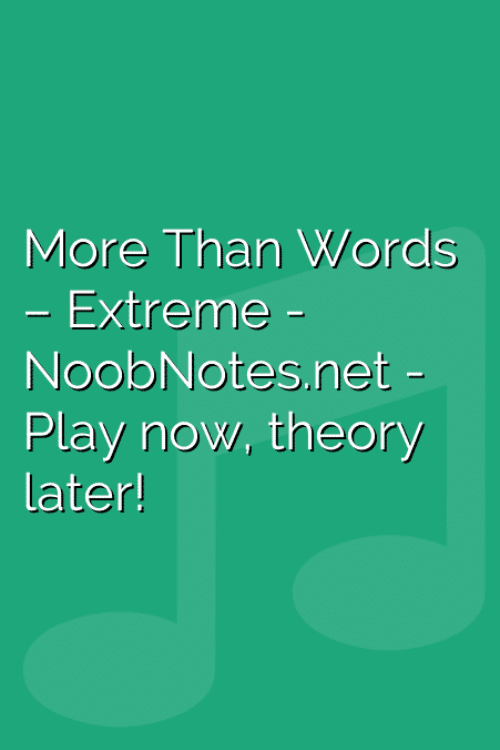 More Than Words – Extreme