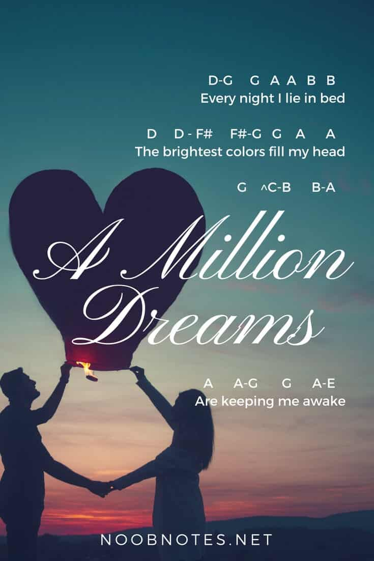A Million Dreams – The Greatest Showman letter notes for