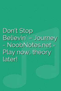Don't Stop Believin' –  Journey