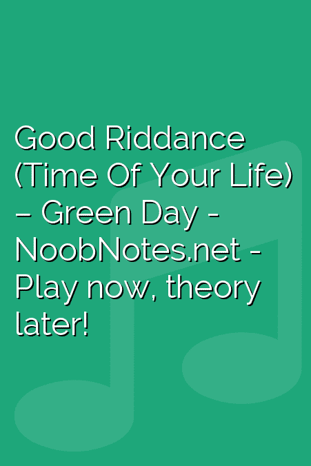 Good Riddance Time Of Your Life Green Day Letter Notes For
