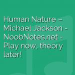 Human Nature – Michael Jackson