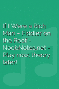 If I Were a Rich Man – Fiddler on the Roof
