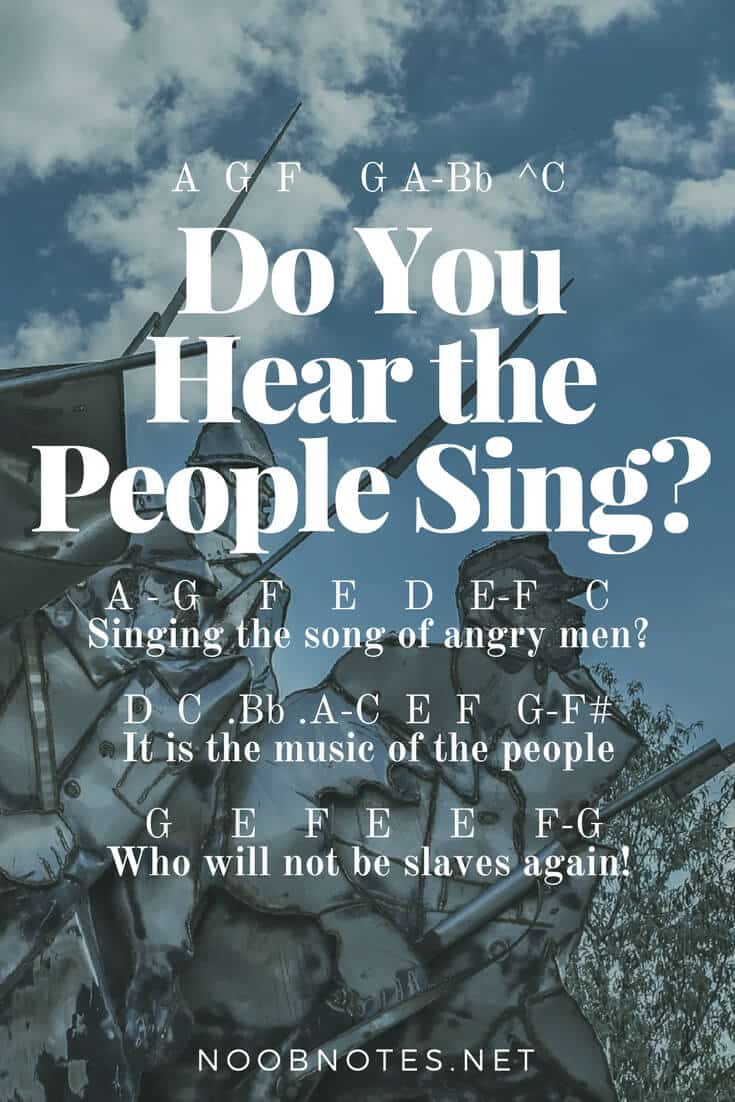 Do You Hear The People Sing Les Miserables Letter Notes For Beginners Music Notes For Newbies