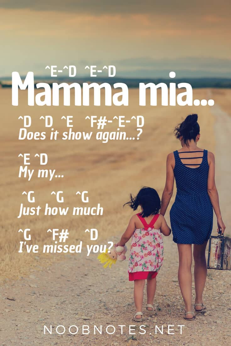mamma mia abba lyrics pdf