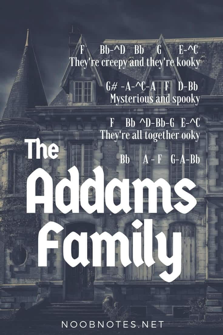 The Addams Family Theme Vic Mizzy Letter Notes For