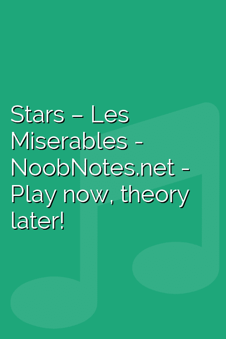 Broadway & Stage Show music notes - music notes for newbies