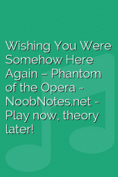 Wishing You Were Somehow Here Again – Phantom of the Opera