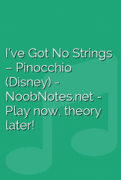 I've Got No Strings – Pinocchio (Disney)