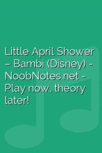 Little April Shower – Bambi (Disney)